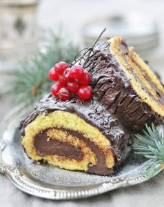 Traditional French Cuisine for Christmas bûche de Noël BY PARIS BY EMY