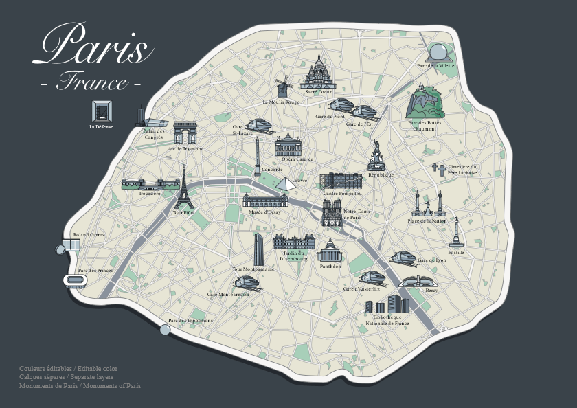 Map of Paris, Paris tour package by PARIS BY EMY