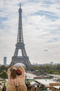 LGBT Paris 2 women in front of the Eiffel Tower, PARIS BY EMY